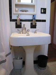 Adding Storage to a Vintage Bathroom
