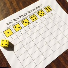 Practice number formations with this fun game. Students also have to recognize dot patterns! Maths Eyfs, Math Classroom, Kindergarten Math, Classroom Activities, Teaching Math, Preschool Activities, Kindergarten Graduation, Teaching Ideas, Number Formation
