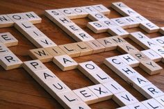 """This is a clever idea from Sheri on Childmade: Scrabble-tile wall art! She was struggling to figure out what to give her two 90-year-old grandmothers for Christmas because, as she put it, """"They sim..."""
