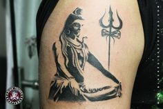 Realistic Lord Shiva Tattoo - Black Poison Tattoo Studio [I love the art and subtly of this - I'm not going to get a Hindu tattoo because I do not practice Hinduism, but damn this is an awesome tattoo]