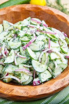 Creamy Cucumber Salad  #Contest  This cucumber salad reminds me of Germany and the grill night we did with my husband's family as a welcoming to me. The fresh dill really sets off the flavor of the cucumbers
