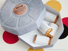 MOVIE REEL Favor Box - DIY Printable Hollywood Film Gift Box - Thumbnail 1