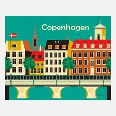 Copenhagen Print- Artist Karen Young makes illustrations of city skylines found in the U.S. and around the world. (via Fab)