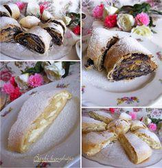 Almás-mákos és túrós rétes Zsanuáriától ♥ Hungarian Recipes, Hungarian Food, Baked Potato, Baked Goods, Camembert Cheese, Dairy, Barbie, Cooking Recipes, Sweets