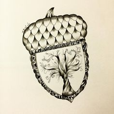 zentangle acorn - Google Search