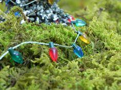 Miniature Christmas Light Bulb strand 6 feet  for tree, dollhouse, or fairy garden craft supply