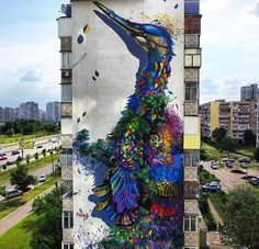Photo : New Street Art by Ernesto Maranje found in Kyiv, Ukraine. #StreetArt #Graffiti #Mural
