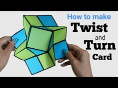 diy napkin folding Twist and Turn Card Fun Fold Cards, Pop Up Cards, Folded Cards, Diy Cards, Step Cards, Instruções Origami, Origami Cards, Paper Crafts Origami, Diy Paper