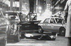Photo Date: Caption: The body of Thomas Bilotti, friend and chauffeur of Mafia boss Paul Castellano, lies in the street after he and Castellano were shot and killed outside a E. Real Gangster, Mafia Gangster, East River, Westies, National Geographic Tv Shows, Mob Rules, Mafia Families, Neutral, Life Of Crime