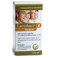 Probiotika: Lactobact Premium enthält 9 speziell ausgesuchte probiotische Kulturen. Zusätzlich enthält es auch noch Zink. Diese Kombination unterstützt Ihr Immunsystem und baut die Darmflora wieder auf. Einfach 2 magensaftresistente Kapseln täglich einnehmen. Lactobact Premium ist als Monats-, 3-Monats- und 5 Monatskur erhältlich.