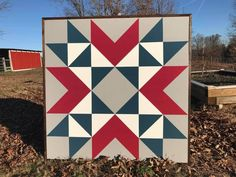 Wyoming Valley Pattern x Quilt Square Patterns, Barn Quilt Patterns, Square Quilt, Barn Quilt Designs, Quilting Designs, Quilting Projects, Art Projects, Amish Barns, Painted Barn Quilts