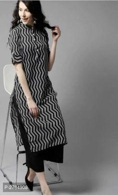 Simple Kurta Designs, Kurta Designs Women, Stylish Dress Designs, Indian Kurtis Designs, Latest Kurti Designs, Plain Kurti Designs, Stylish Dresses, Dress Indian Style, Indian Fashion Dresses