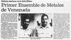 Debut del primer ensamble de metales. publicado el 11 de junio de 1988.
