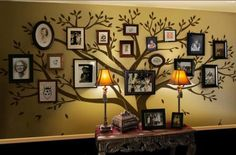Family Tree Wall Decal - Photo frame tree Decal - Family Tree Wall Sticker - WallDecal