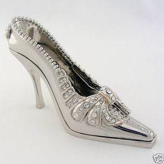 Lady Shoe Miniature Rhodium Plated Swaorvski Crystal Juju Palais Royal 10216002 | eBay