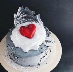 58 Ideas For Cupcakes Fondant Ideas Sweets Wedding Cakes With Cupcakes, Fondant Cupcakes, Buttercream Cake, Cupcake Cakes, Cupcake Toppers, Bolo Neon, Winter Torte, Fantasy Cake, Valentine Cake