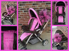 Stroller cover by BowsFromAbove on Etsy minus the tulle