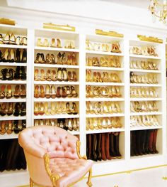 """""""Behind every successful woman is a fabulous pair of shoes!"""" Or in this case a million pairs. (;"""