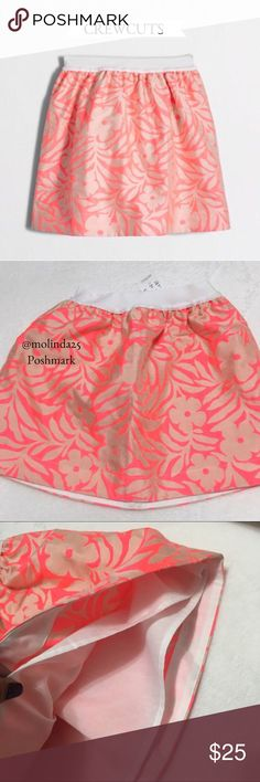 NWT Crewcuts Neon Floral Pull-on Skirt Beautiful Crewcuts skirt, Viscose/Poly/nylon, sits at waist, falls above the knee, elastic waistband, slant pockets, lined, machine wash cold. Sold out online, style#: E8541 MSRP:$59.50 J. Crew Bottoms Skirts