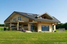 maison bois, extérieur