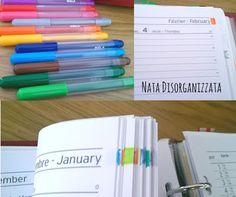 Nata disorganizzata: Setup dell'agenda di casa 2016: colorare le pagine del mese