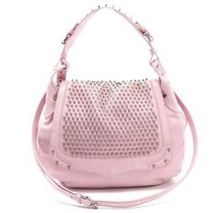 Rebecca Minkoff - A leather bag finds its punk-rock edge as cone studs shine from the front flap and the wide handle. The detachable, adjustable strap fits comfortably over the shoulder.     Shop it at Snapette: https://www.snapette.com/Rebecca-Minkoff/INTERMIX/New-York/153020