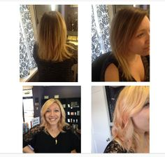 From Ombre to a Rose Gold inspired look done @ Salon 621