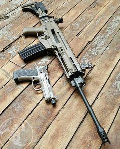 Urban CZ75 P-01 Omega FDE & CZ 805 Bren 556 Carbine.