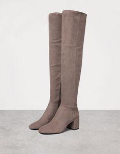 Mid heel tall boots - Shoes - Bershka Croatia
