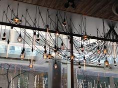 Cool light installation at Earls restaurant