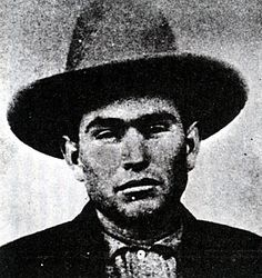 Topeka Bill Cook, leader of the Cook Gang.... they successfully committed ten assorted stagecoach, store, bank and railroad holdups. It is a record unmatched by the James-Younger Gang or any other.