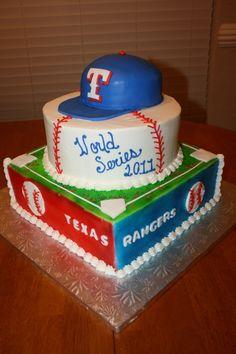 Texas Rangers Cake---this still hurts!!