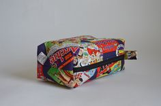 Handmade Unique Archie Toiletry Bag // Shaving Kit by HoneyBagger