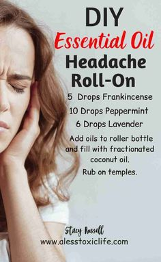 Essential Oils For Migraines, Best Essential Oils, Migraine Essential Oil Blend, Oil For Headache, Roller Bottle Recipes, Peppermint, Health Advice, Health Care, Migraine