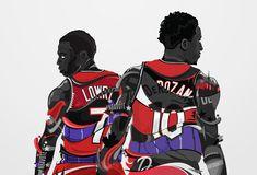 Toronto Raptors | Kyle Lowry and DeMar DeRozan, Fan Art