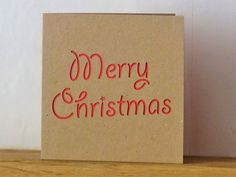 Merry Christmas Card (red) £3.00