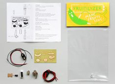 Packaging with fluorescent spot colour designed by Resort for fruit and vegetable based electronic music making kit Fruitilyzer. Opinion by Richard Baird Web Design, Graphic Design, Hobby Kits, Print Finishes, Electronic Music, Diy Kits, Packaging Design, Coding, Colours
