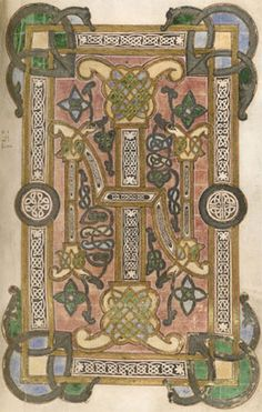 THE BOOK OF KELLS, Dublin, Ireland - the famous 9th century illuminated manuscript of the gospels written by monks.  It is in the Trinity College Library that was built in 1712.  It is one of eight buildings on the 40-acre site that collectively hold over 4 million books - one copy of every Irish or British book published since 1801.