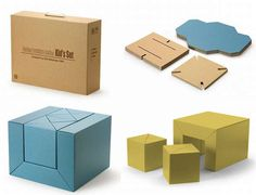 Cardboard Furniture Back in Fashion - we already have cardboard chairs and a playhouse ... love this multifunction set