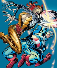 captain america in Collectible Comics All Marvel Characters, Marvel Comics Superheroes, Marvel Vs, Fun Comics, Comic Book Characters, Marvel Heroes, Anime Comics, Lady Deathstrike, Captain America Comic
