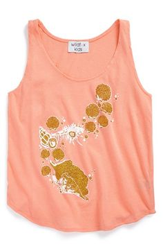 Girl's Wildfox 'Dreamy Shells - Hiker' Graphic Tank Top