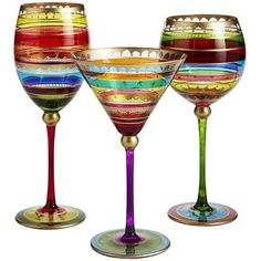 Festive Stripes Stemware--I want these! Pier 1 Decor, Kiss The Cook, Christmas Decorations, Holiday Decor, Christmas Time, Wine Glass, Stripes, Festive, Entertaining