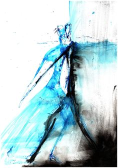 Watercolor Tattoo, Modern Art, Abstract Art, Minimalist, Black And White, Shop, Blue, Painting, Etsy
