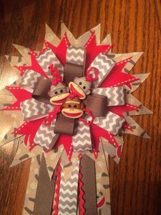 sock monkey corsage for mommy by on etsy