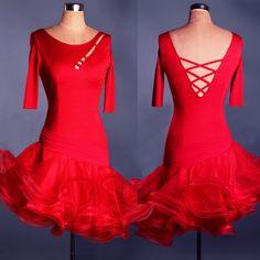 0c3139fb4cfbb custom custmize purple blue black diamond latin Rumba cha cha salsa tango  one-piece Latin dance dress competition wear S-XXXL