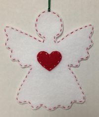 Felt Angel Ornaments Angel Silhouette Ornament by JDimperfections