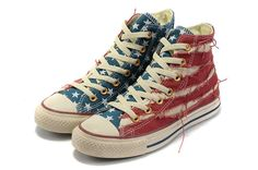 2012 Converse All Star Chuck Taylor Shoes Hi-top New American Flag Canvas  American Flag 3745b113cd0a