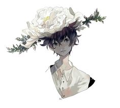 Anime Boy • Flower Hat
