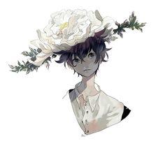 Anime Boy • Flower Hat