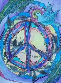 Peace on a Vine, Singleton Hippie Art, The Original Peace Art, Peace Of Mind, Peace And Love, Peace Dove, Hippie Peace, Hippie Love, Hippie Chick, Hippie Vibes, Peace On Earth